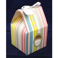 Cupcake Box  Multicolour Striped (10)