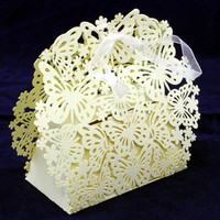 Gift Box  Butterfly & Flower Ivory (10)