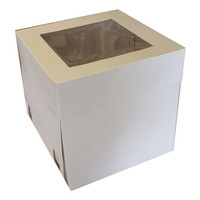 Wedding Cake Box White 16x16x12 Ea