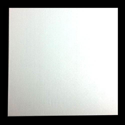 4mm MDF Board White Square 10in