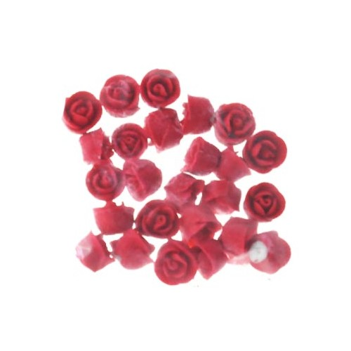 Rose  Whirl Baby Red 1.3cm Hangsell 25 pc