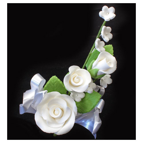 Rose Spray  White Medium 100mm (Bx 20)
