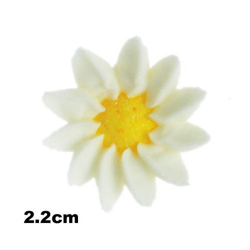 Flower Mini Daisy 22mm White (Bx 100)