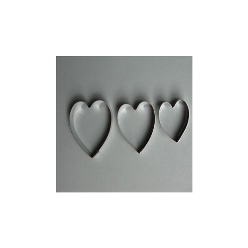 Cutter  S/Steel Hearts Cutter Set 3 Medium (Ea)