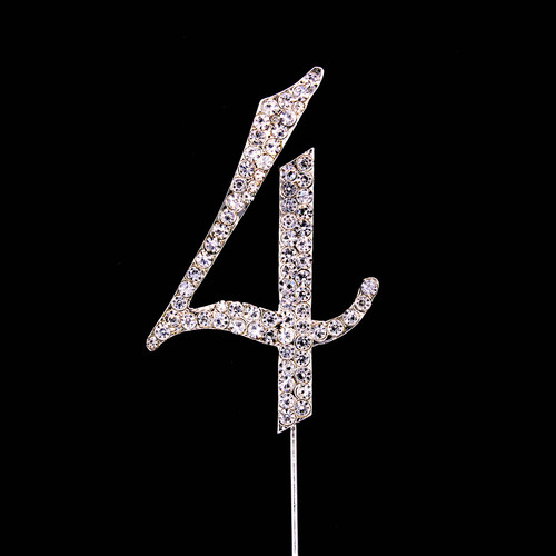 Bling Diamante 7cm Number 4