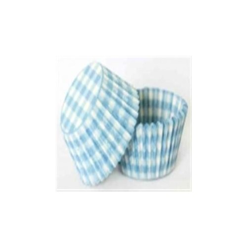 Patty Pan Pastel Blue Gingham 6x50pk (300)