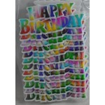 Plaque Happy Birthday Rainbow (ea)
