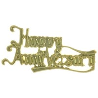 Plaque  Happy Anniversary Gold (Pk 24)