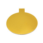 Tab Slice Board 100mm Round GOLD (50)