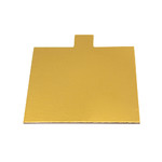 Tab Slice Board 100mm Square GOLD (50)