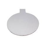 Tab Slice Board 100mm Round SILVER (50)