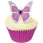 Edible Pink & Blue Butterflies (12)