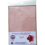 CDA Wafer Paper Translucent Light Pink A4 (6)