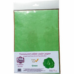 CDA Wafer Paper Translucent Green (6)