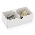 2 Chocolate Box with Clear Lid 8x4x3cm