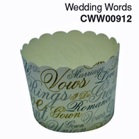 Cupcake Case  Wedding Words  Carton 600pc