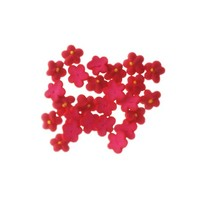 Flower  5 Petal Baby Red 1cm (150)