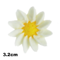 Flower Daisy Small 32mm White (Bx 64)
