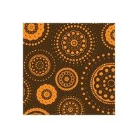 Choc Transfer Sheet  Orange Dots (Ea)
