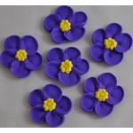 5 Petal Flower Purple33mm(128)