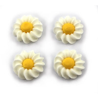 Flower Daisy Swirl 25mm White (Bx 180)