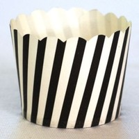 Cupcake Case Black and White Stripe Ctn 600pc