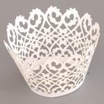 Cupcake Wrapper Pearl White Fence (12)