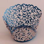 Cupcake Wrapper Pearl Navy Blue (12)