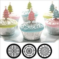 Cupcake and Cookie Textured Tops  Scroll