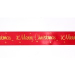 Merry Christmas Ribbon - Red 30mm Wide x 1m