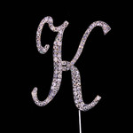 Bling Diamante 7cm Letter K