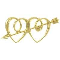Ornament  Dbl Heart/Arrow Gold (Pk 12)