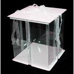 Clear Cake Box with Ribbon 10x10x12""