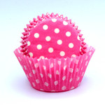 Patty Pan Pink Polka Dots 6x50pk (300)