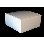 "SFD 15x15x6"" Cake Box Flip Up White Milkboard"