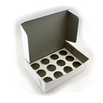 12 Hole Budget Mini Cupcake Box (Ctn 100)