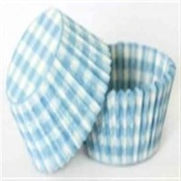 Confeta Patty Pan Pastel Blue Gingham #700 (Pk 500)