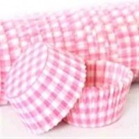 Confeta Patty Pan Pastel Pink Gingham #700 (500)