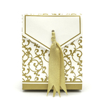 Gold Ribbon Favour Boxes 10pc