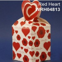 Favour Box  Red Hearts (10 Pieces)