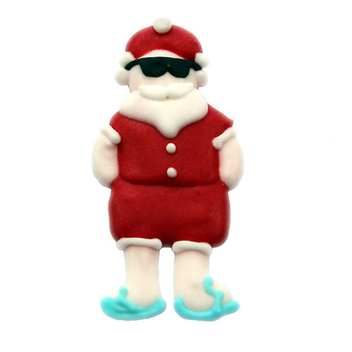 Aussie Santa Sugar Decoration 40mm (Box 96)