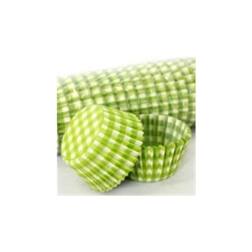 Patty Pan #700 Lime Green Gingham 50pk