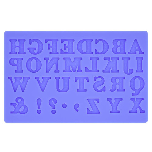 Silicone Mould Alphabets Medium 20mm